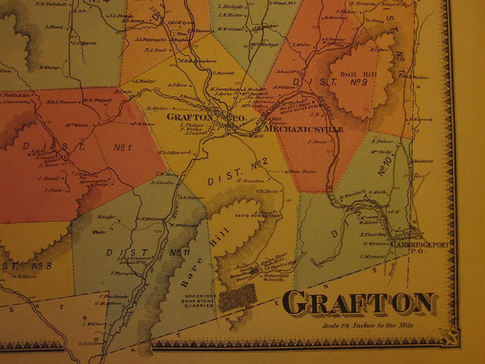Map of Grafton, VT