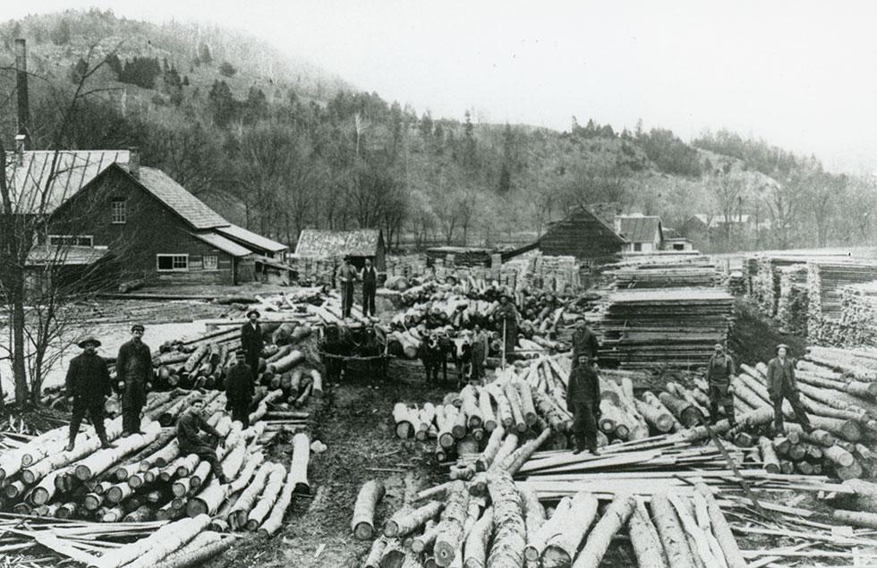 White and Wilbur Sawmill, 1885, courtesy Grafton Historical Society