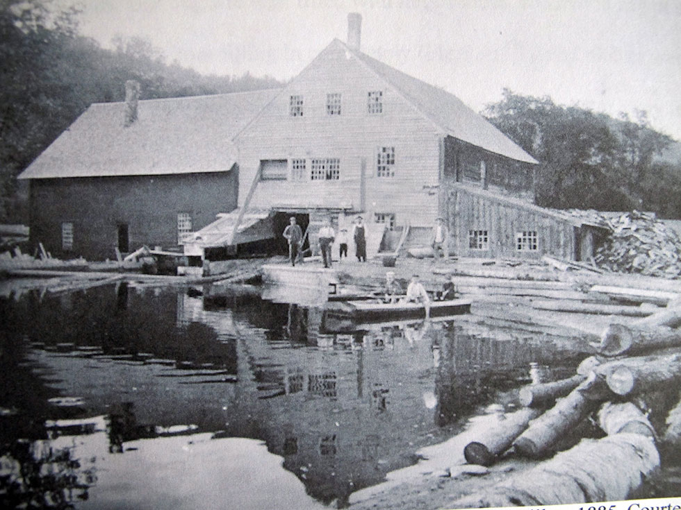 White and Wilbur Sawmill, 1885, courtesy of the Grafton Historical Society
